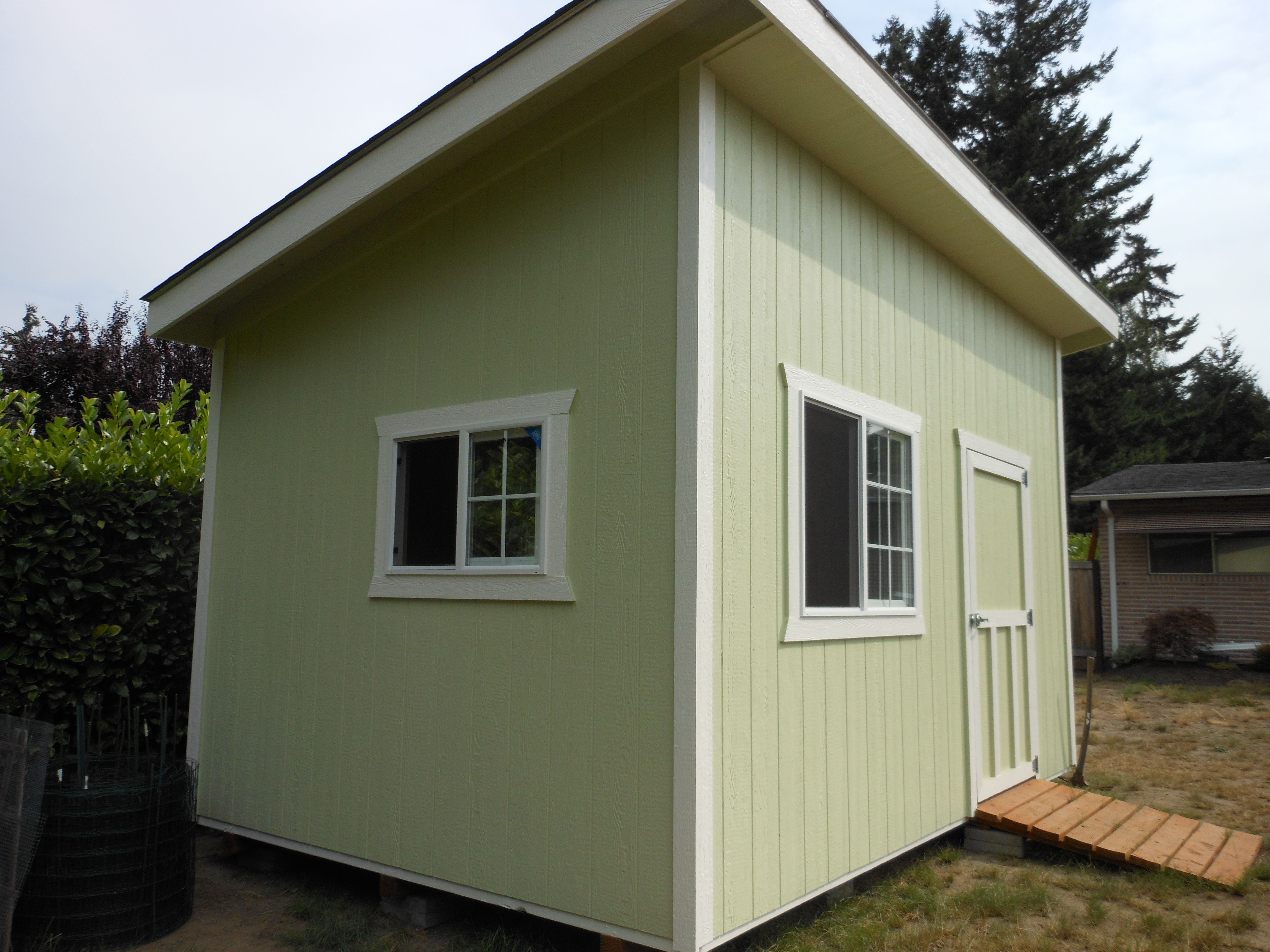 Slant roof style storage garden shed tool shed for Shed roofs