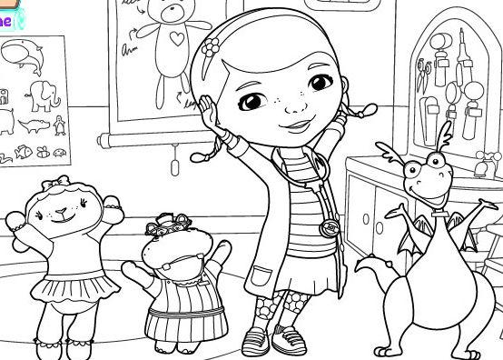 Doc mcstuffins school of medicine coloring page docteur - Disney junior coloriage ...