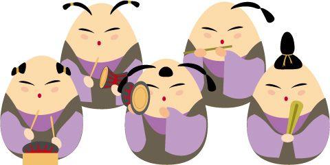 五人囃子 イラスト Google 検索 ひな祭り雛祭りdolls Festival