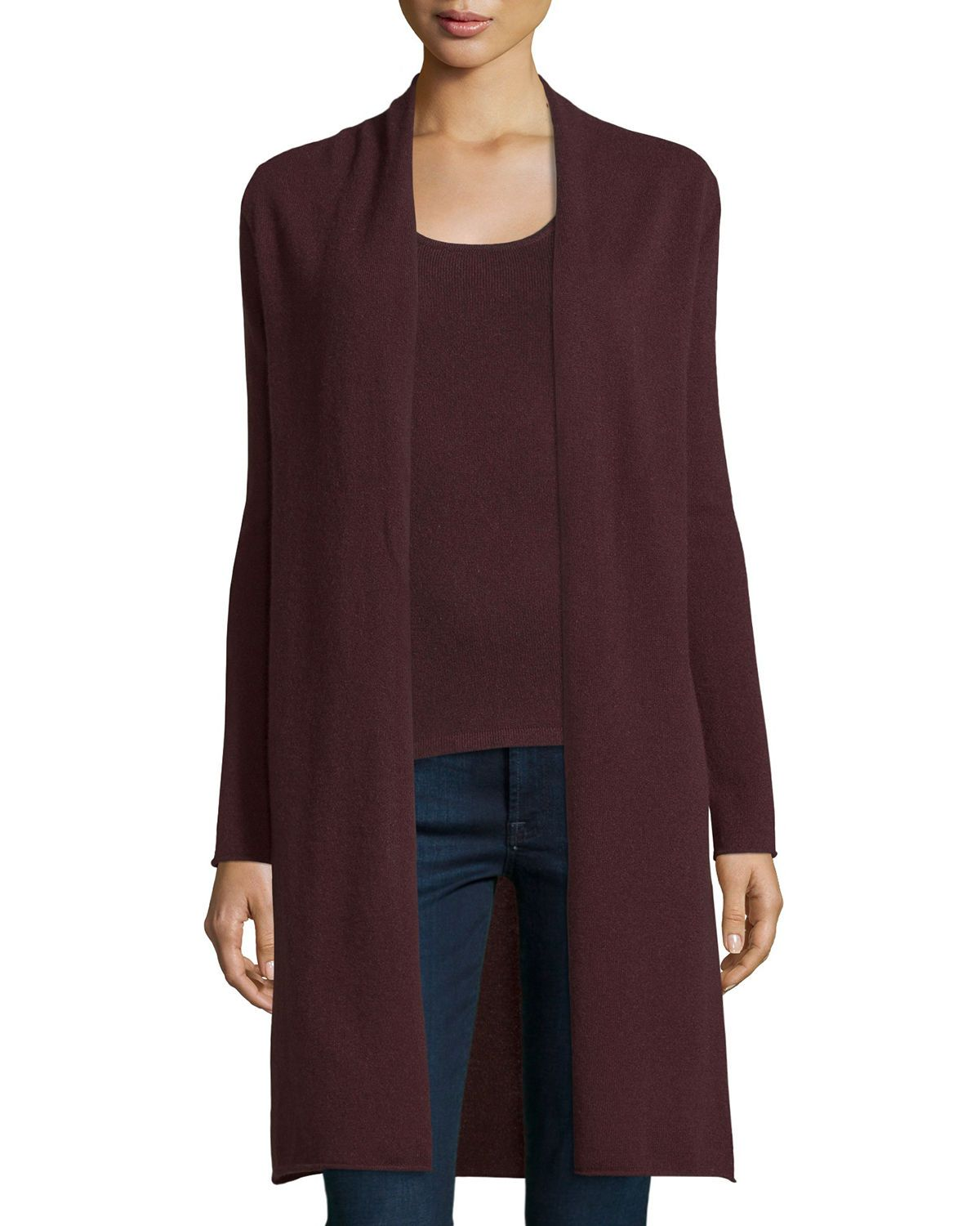 Long Cashmere Duster Cardigan | Style | Pinterest | Dusters ...