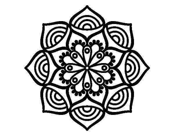 Mandala Crecimiento Exponencial Colorear Jpg 600 470 Mandalas Para Colorear Mandalas Dibujos Con Mandalas