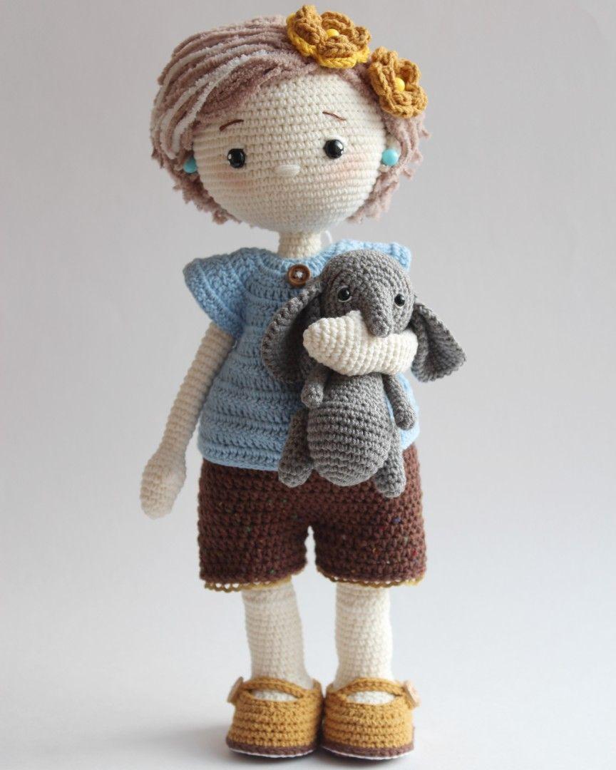 AMIGURUMI Crochet doll PATTERN, pdf, toy diy, Photo Tutorial, Download, Louisa, LollipopDolls