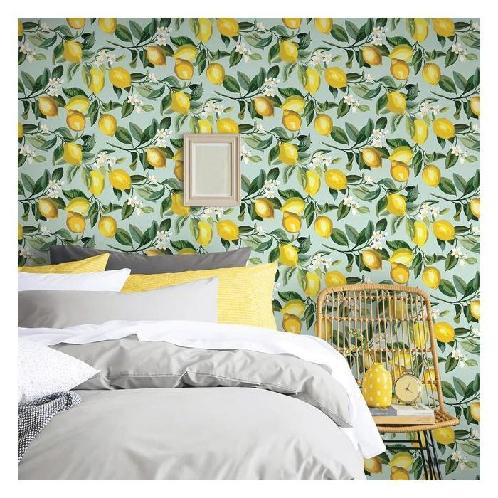 Lemon Zest Peel and Stick Wallpaper Peel and stick