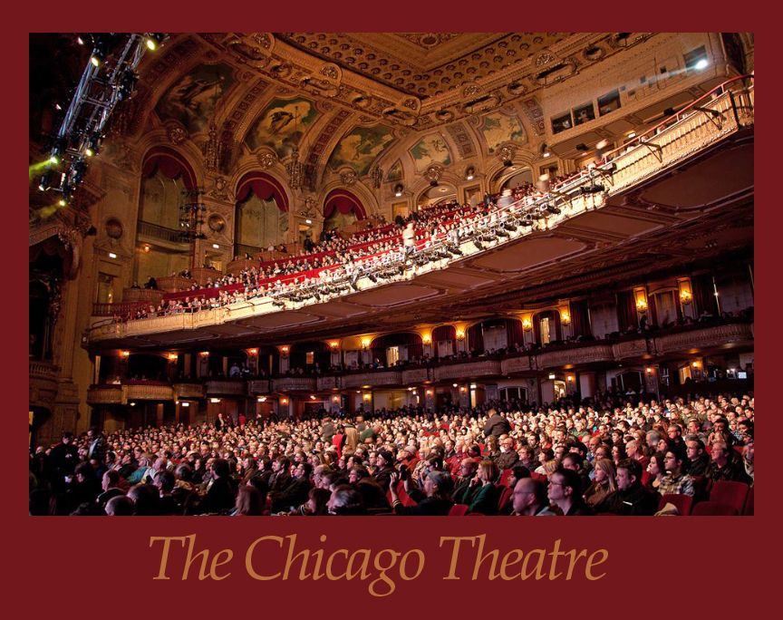 the chicago theatre a full auditorium with the audience
