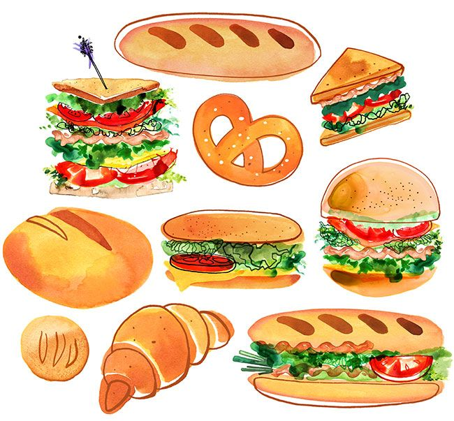 magrikie illustration food veggies kitchen