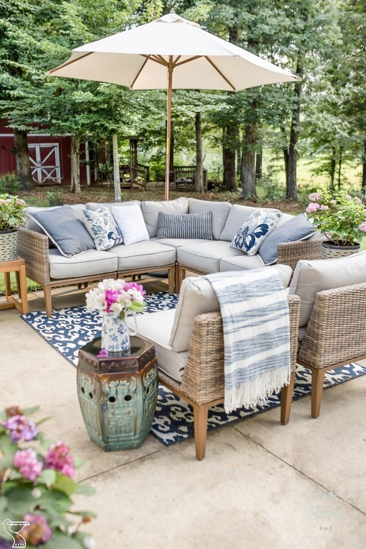 My Affordable Patio Furniture and Outdoor Decorating Tips #patiofurniture