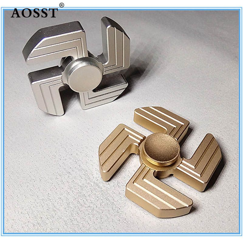 New type of swastika Fid Spinner Tri Spinner finger tip aluminum