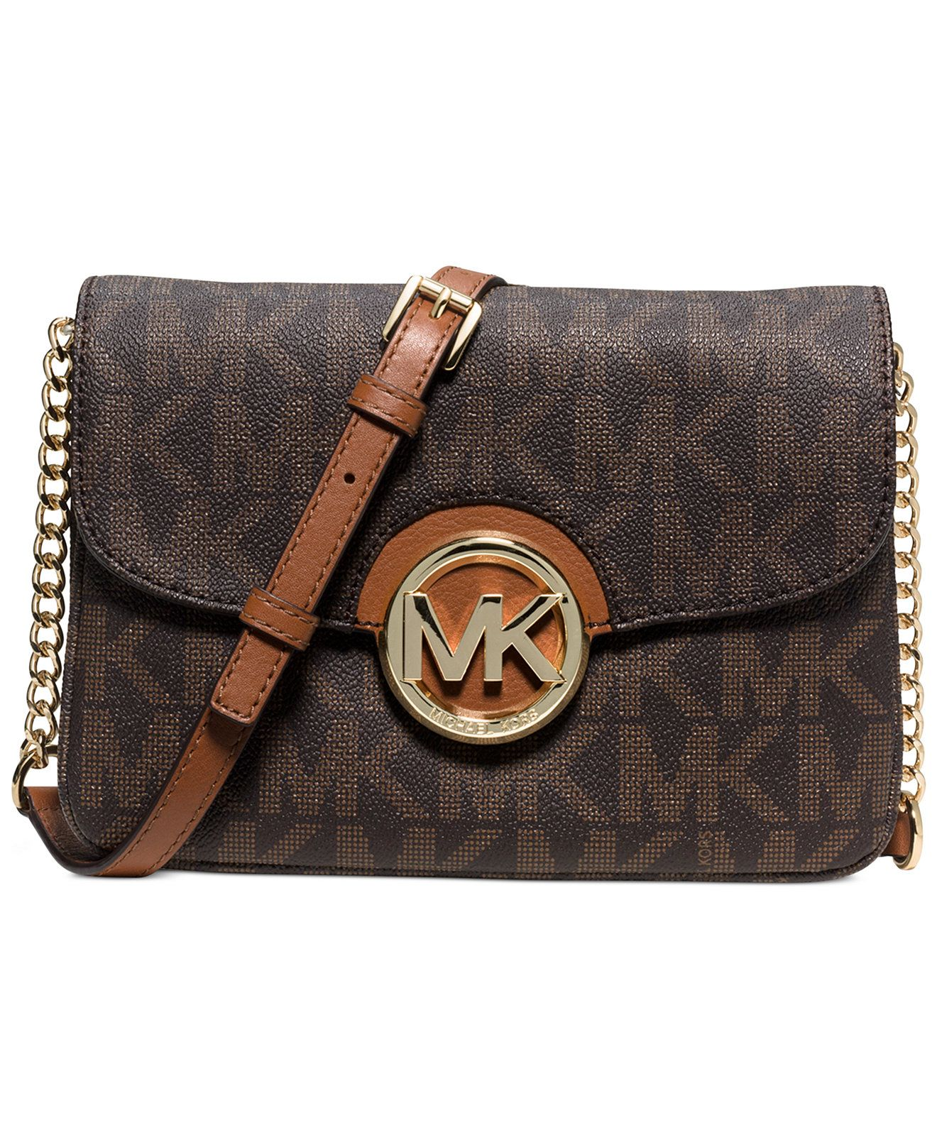 michael michael kors fulton flap gusset crossbody handbags rh pinterest nz