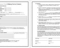 Bridal Makeup Contract Template Docx File Bridal Contract And