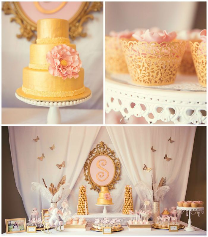 Amazing Pink And Gold Baby Shower