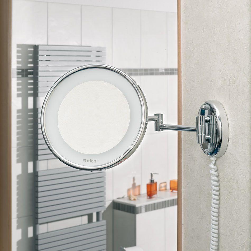 Beleuchteter Schminkspiegel Jenny Schminkspiegel Mit 5 Fach Vergrosserung Schminkspiegel Beleuchtet Schminkspiegel Runde Badezimmerspiegel