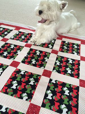 Westie Julep: Derby, A Holiday Quilt & Our New Floors