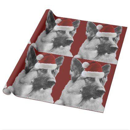 german shepherd holiday wrapping paper christmas wrappingpaper xmas diy holiday