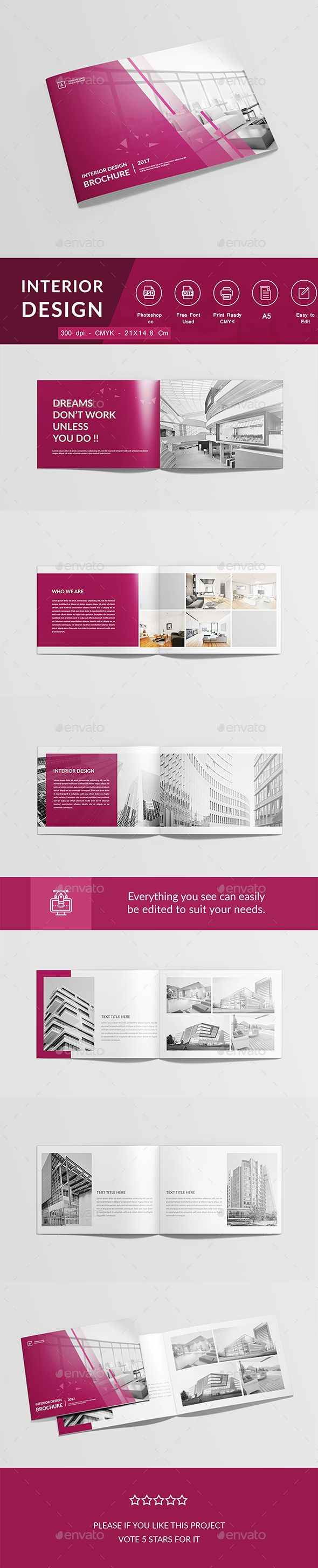 Interior Brochure Template PSD