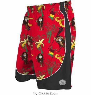 Flow Society Rasta Monkey Dazzle Mens Lacrosse Shorts - $31.99