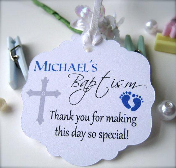 Making own baptismal giveaways tag