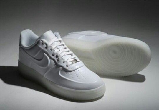 Nike air force 1 with clear sole bottoms | Nice kicks in