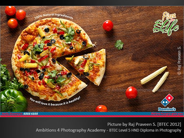 Dominos Pizza By Raj Praveen Advertising Photography By