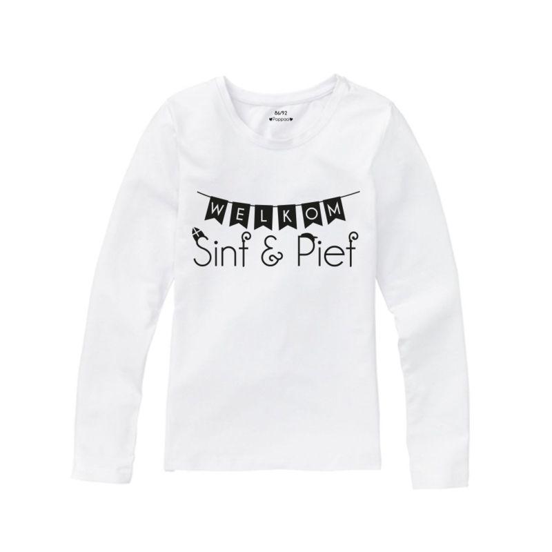 sinterklaas shirt welkom wit