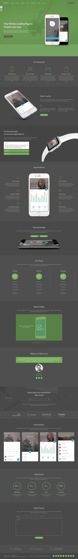 Fibre - App Landing Page   Mobile app and App