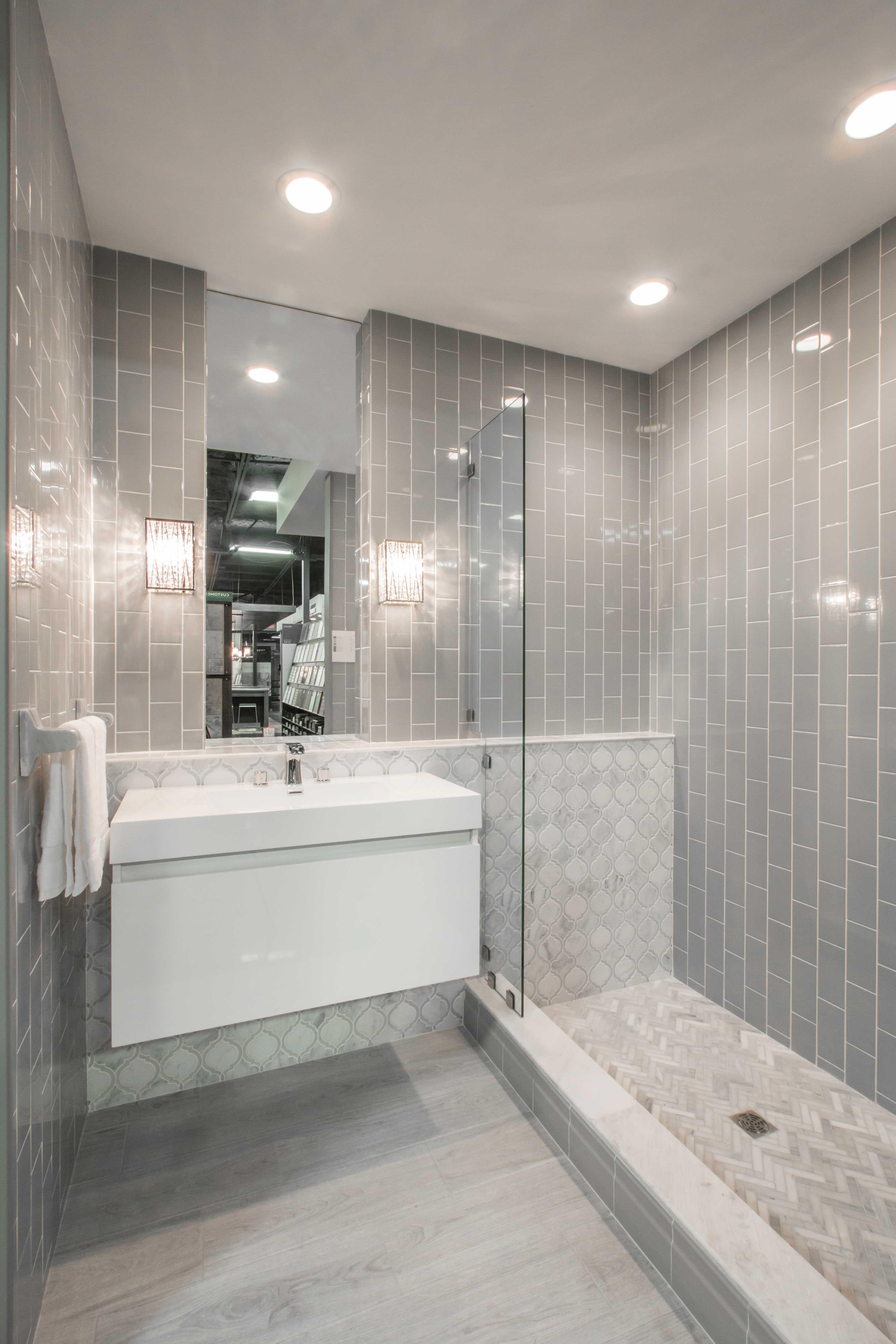 Pin By Sabrina Simmons On Bathrooms Grey Bathrooms