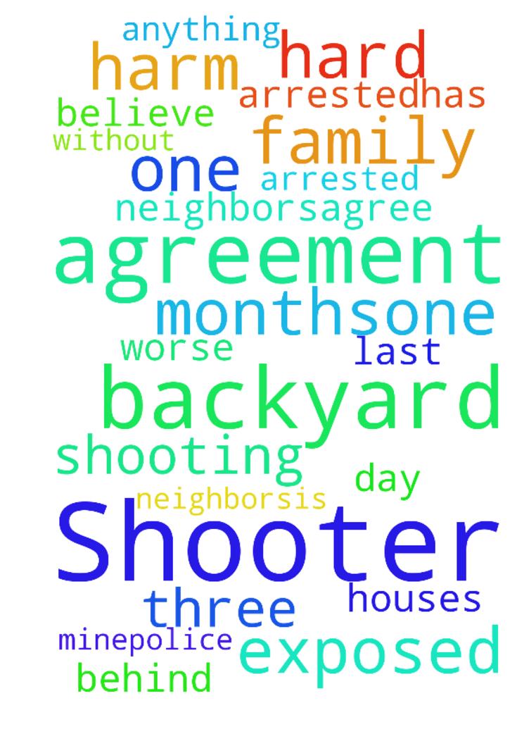 Prayer For Agreement That Backyard Shooter Is Arrestedhas