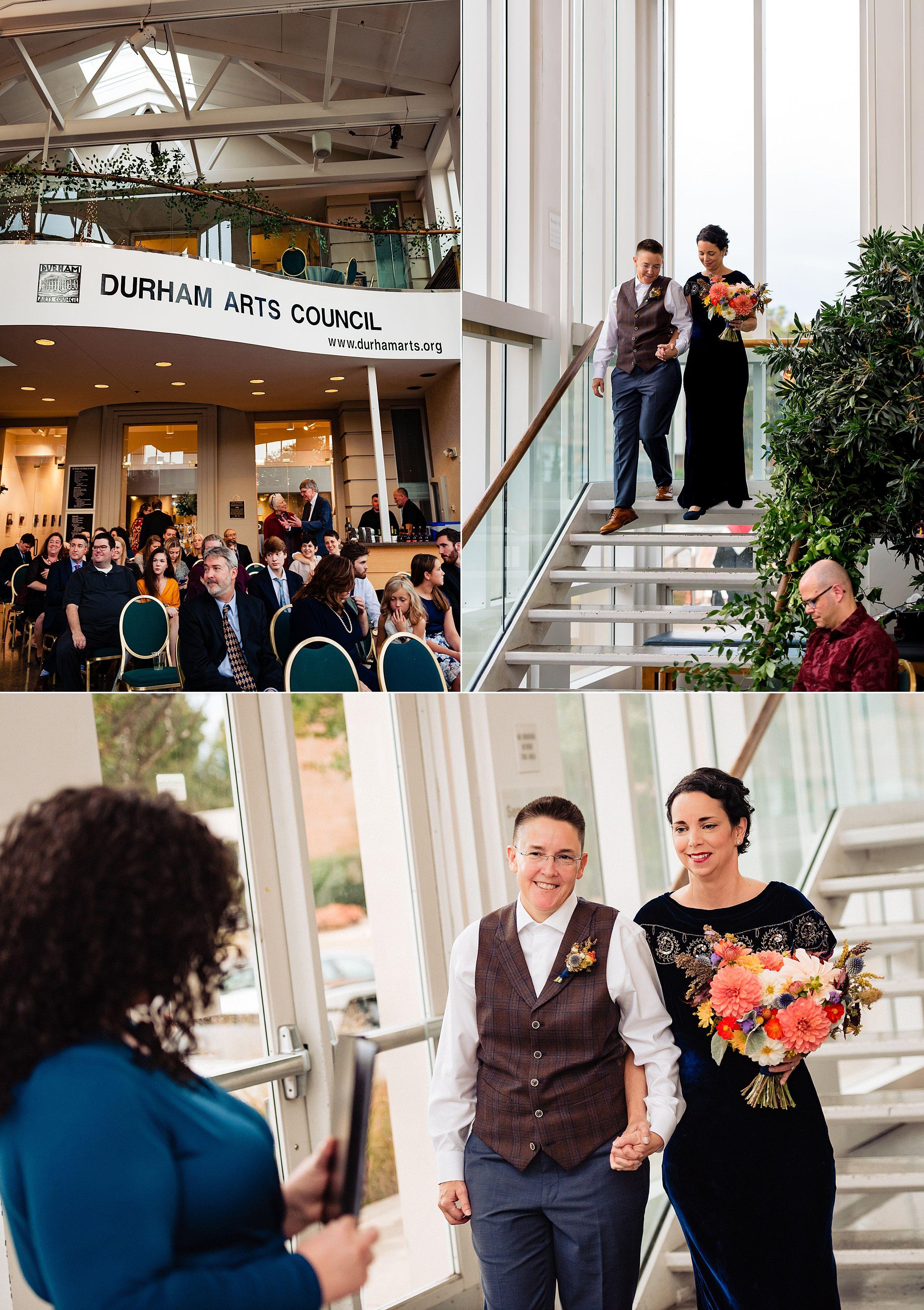 Durham arts council wedding nontraditional wedding
