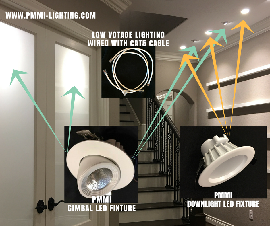 low voltage lighting wired with cat5