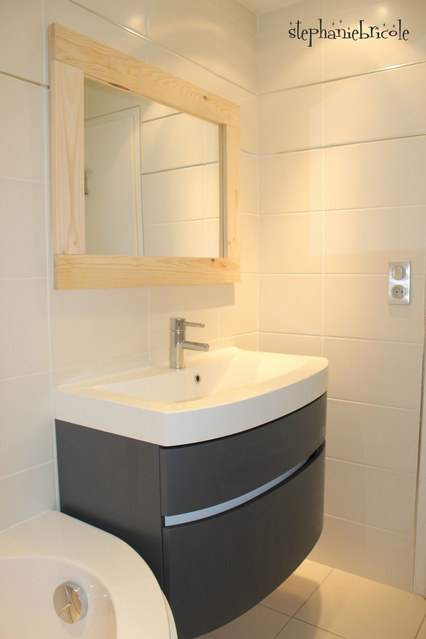 Repeindre un meuble de salle de bain laqué  Repeindre meuble