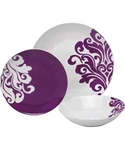 Fine China Dinner Sets purple   Unbranded 12 - Piece ...