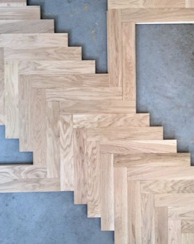 Modern Laying out an Oak parquet floor in a Herringbone pattern Style - herringbone pattern For Your Home