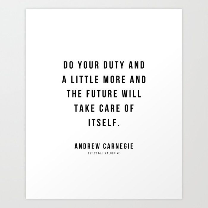 15 |Andrew Carnegie Quotes | 21010 | Motivational Inspirational Success Quote Personal Development Business Coach Art Print by Wordz