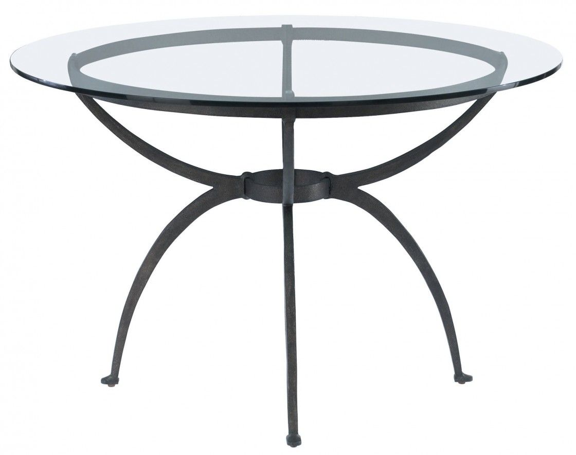 Astonishing Extendable Round Glass Dining Table With Black Wrought