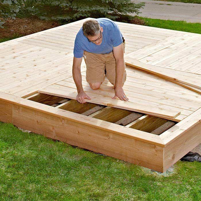 Backyard Low Deck Ideas