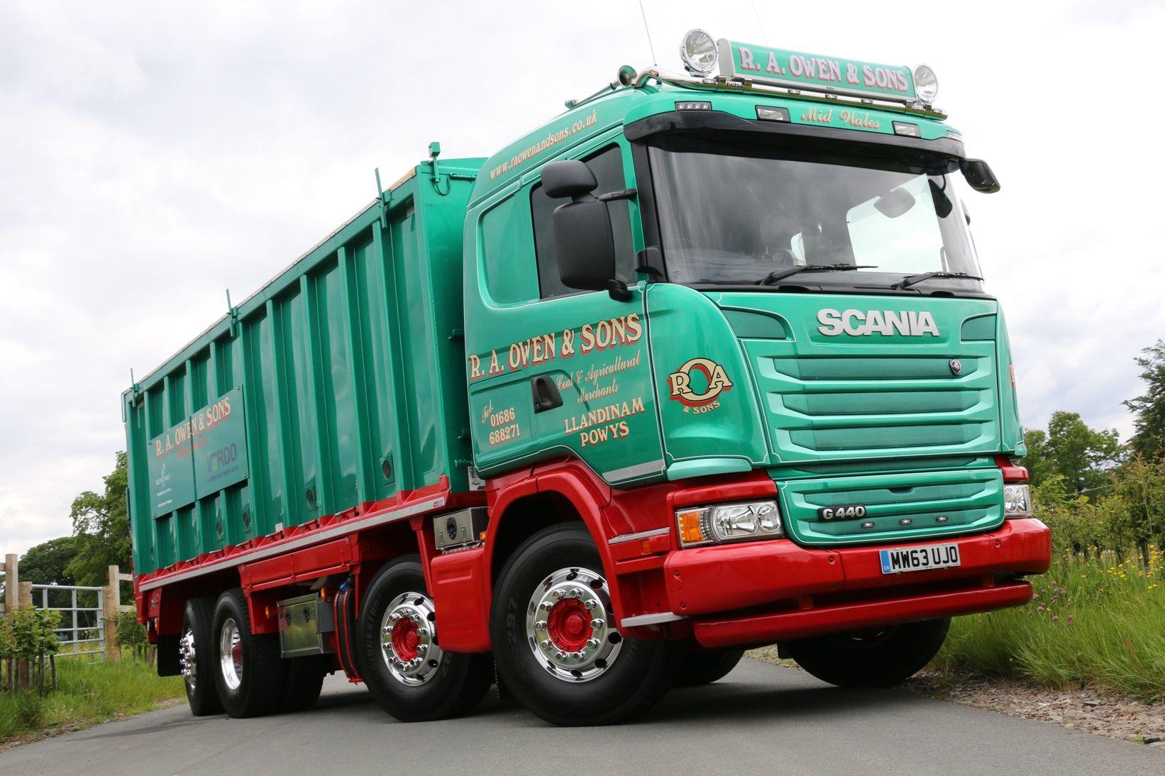 A very smart 8 Wheeler Scania Bulker Old lorries, Cool