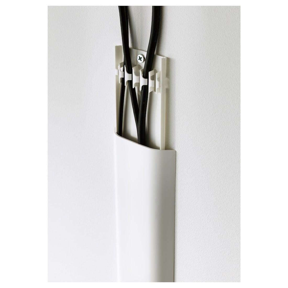 Ikea Uppleva White Cord Cover Strip Cache Cable Tv Monté