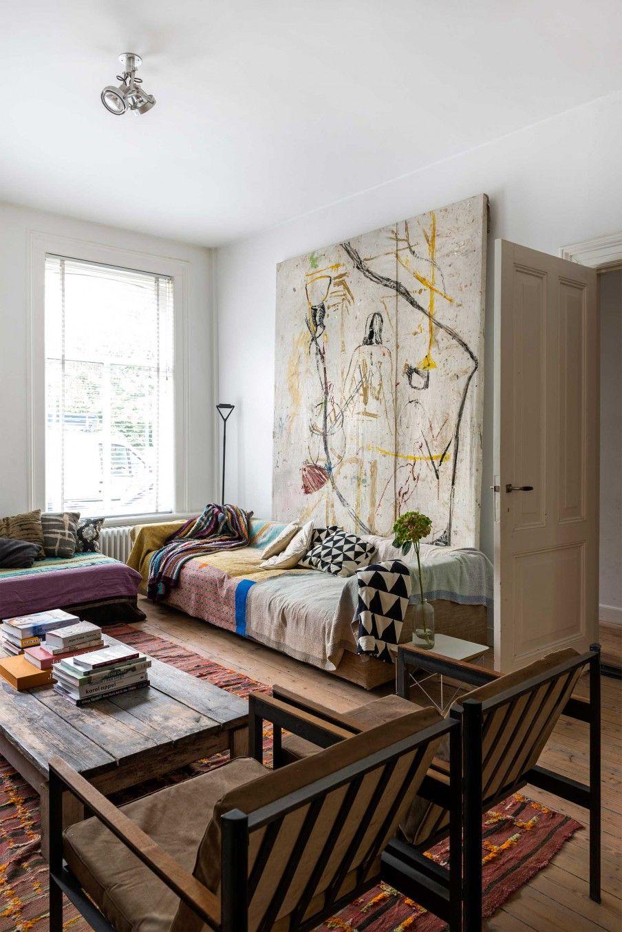 wandkleed in woonkamer | tapestry at livingroom | vtwonen 10-2016 ...