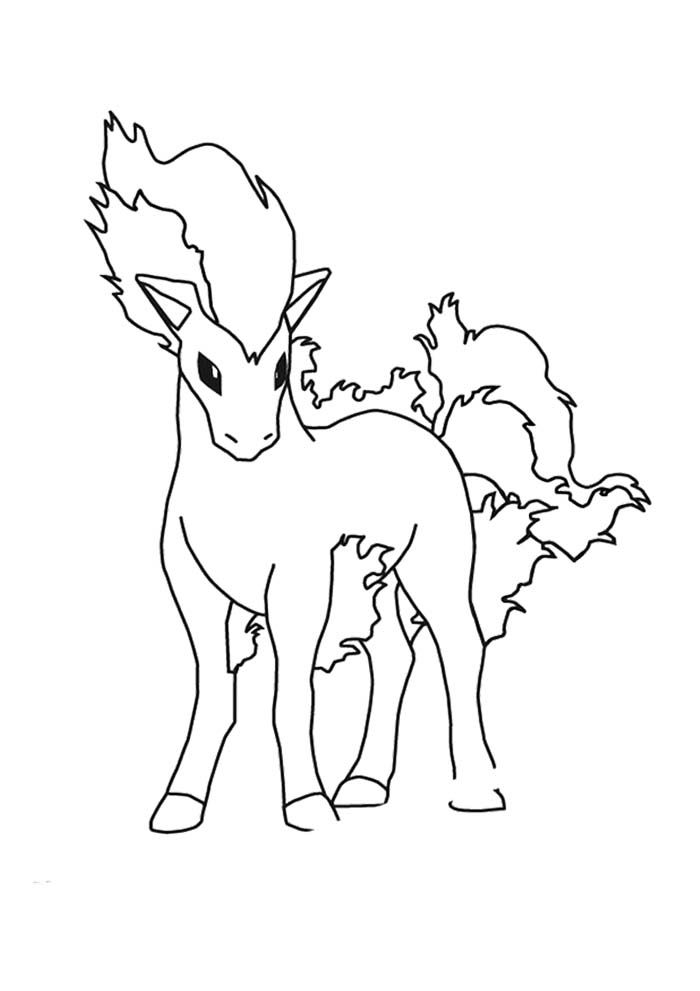 Ponyta Pokemon Coloring Page Hellokids Fantastic Collection Of FIRE POKEMON Pages Has Lots To Print Out Or Color Online Find