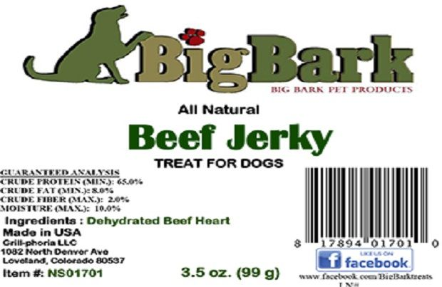grill phoria recalls big bark all natural beef jerky treats due to salmonella petmd