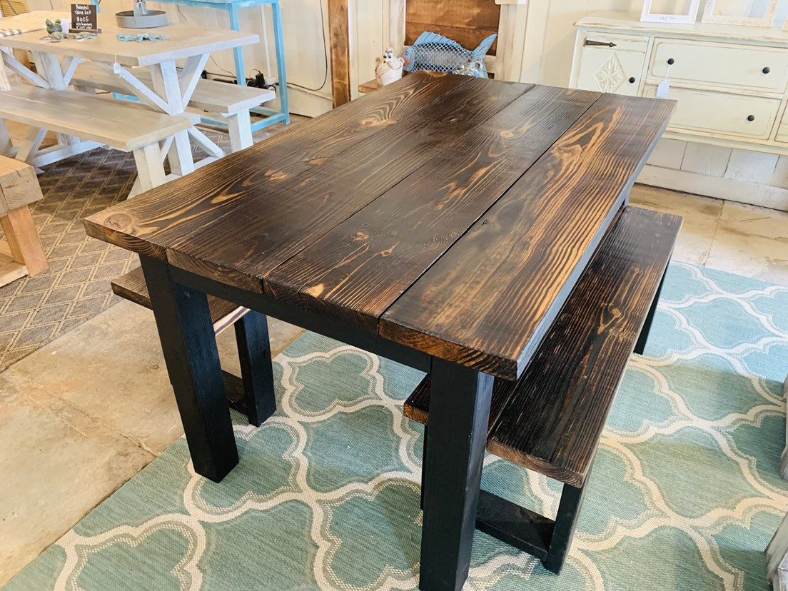 Excited To Share This Item From My Etsy Shop Small Modern Farmhouse Table 5ft With Benches Small Farmhouse Table Farmhouse Table Legs Modern Farmhouse Table