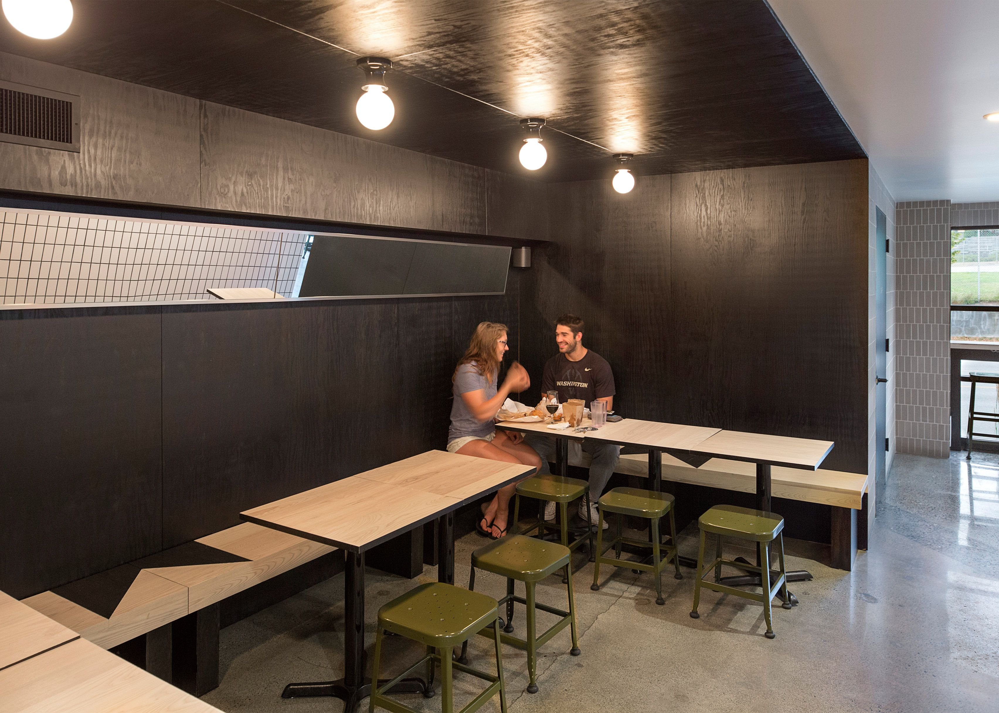 Mammoth cafe and bar in Seattle accommodates different social spaces