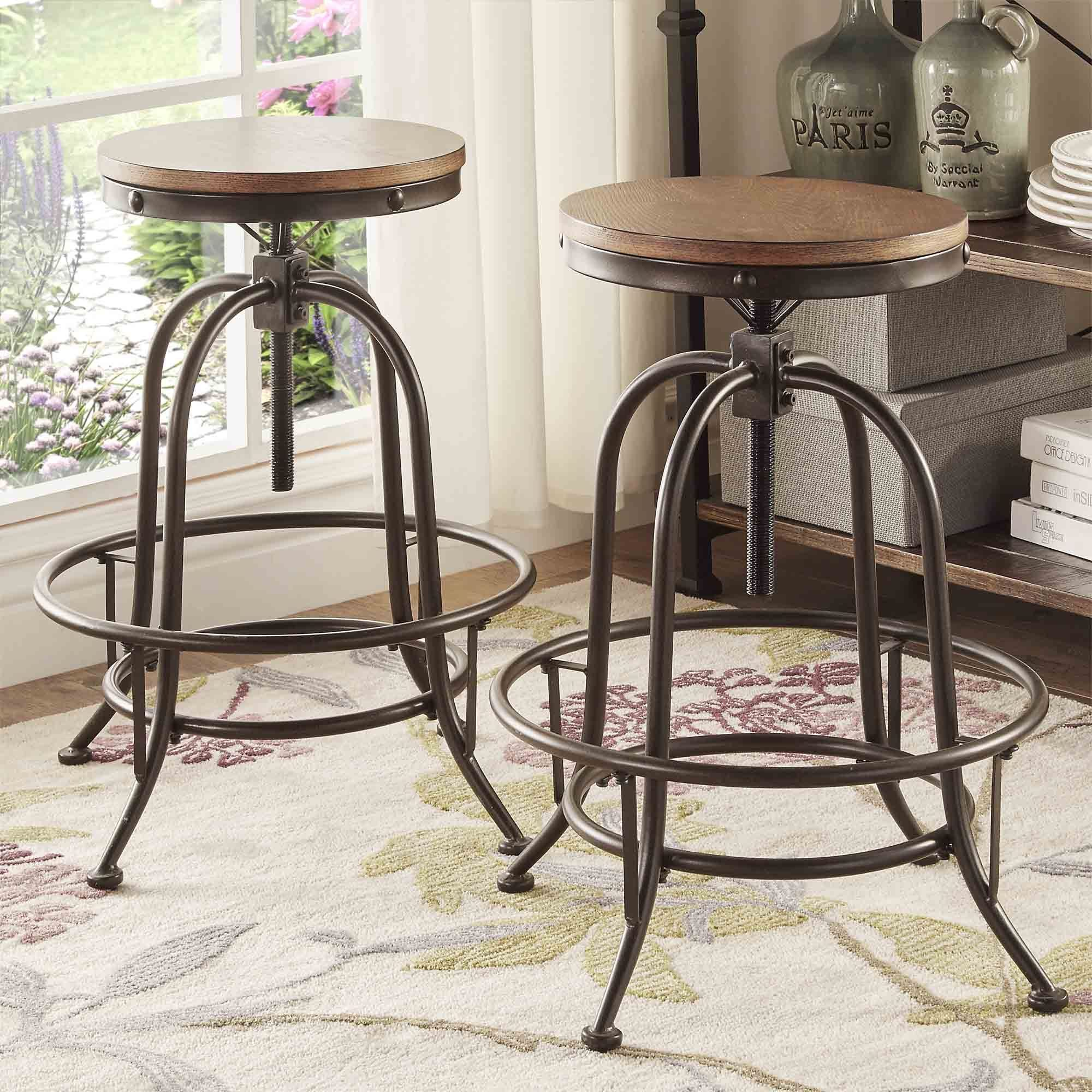 Inspirational Vintage Metal Counter Stool