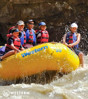 """Desolation Canyon is also the perfect rafting trip for young families! On a """"Family Magic Adventure"""", the rapids are exciting, a dedicated 'river jester' entertains with activities, and there's even a 'kids-only' menu! #Utah #family #vacation"""