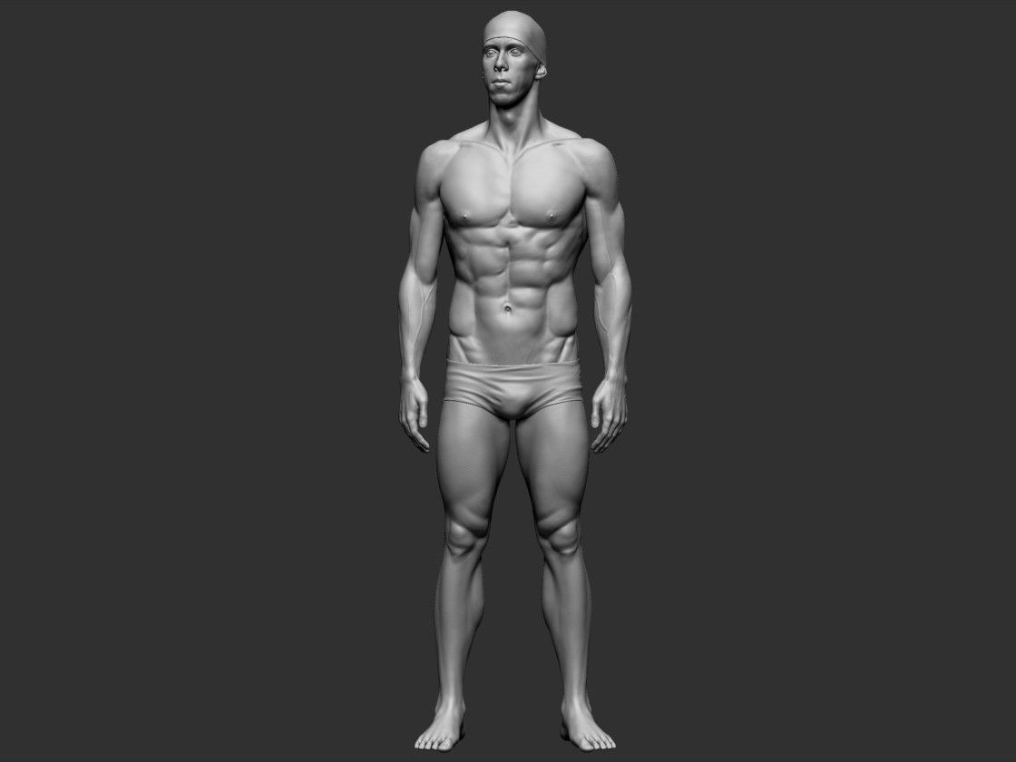 ArtStation - Michael Phelps - anatomy study, Jakub Chechelski ...