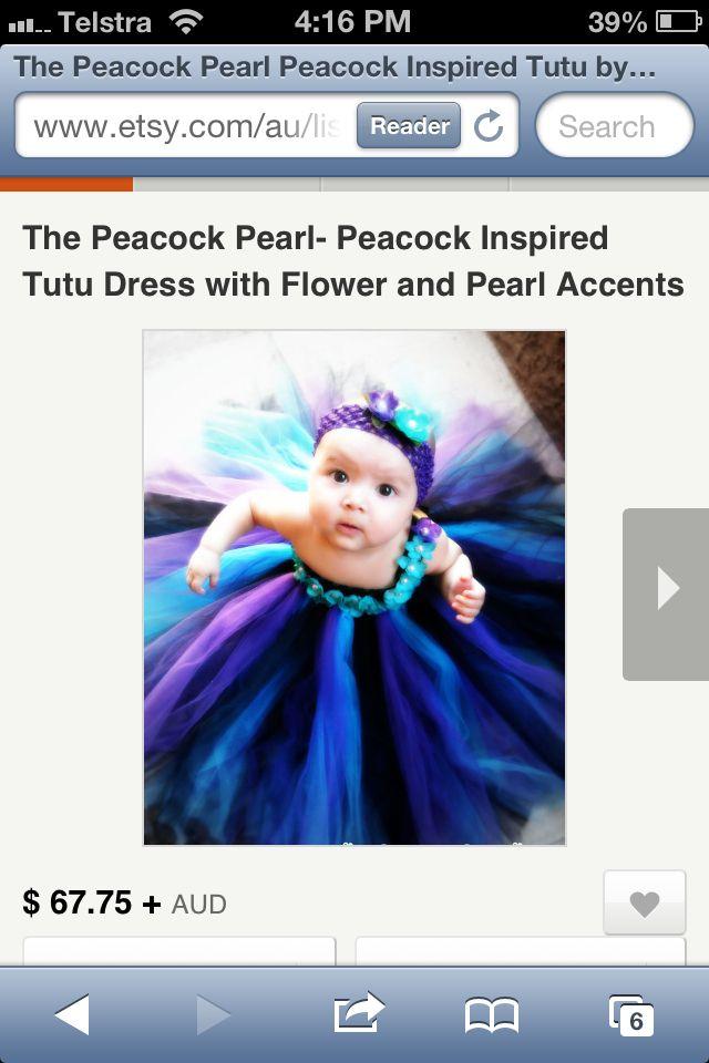 Peacock inspired flower girl dress :) I want this!