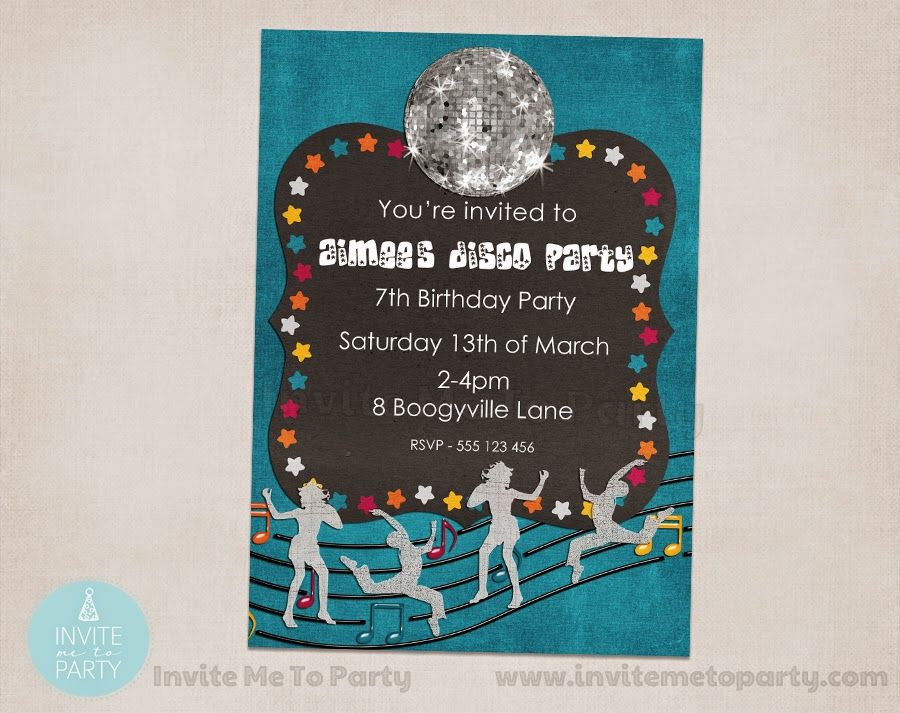 Disco Party Invite Me To Party Disco Party Dance Party 70s
