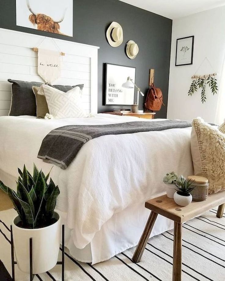 43 modern small bedroom ideas for couples 30 #smallbedroom #bedroomideas #forcou #bedroomideasforsmallroomsforcouples