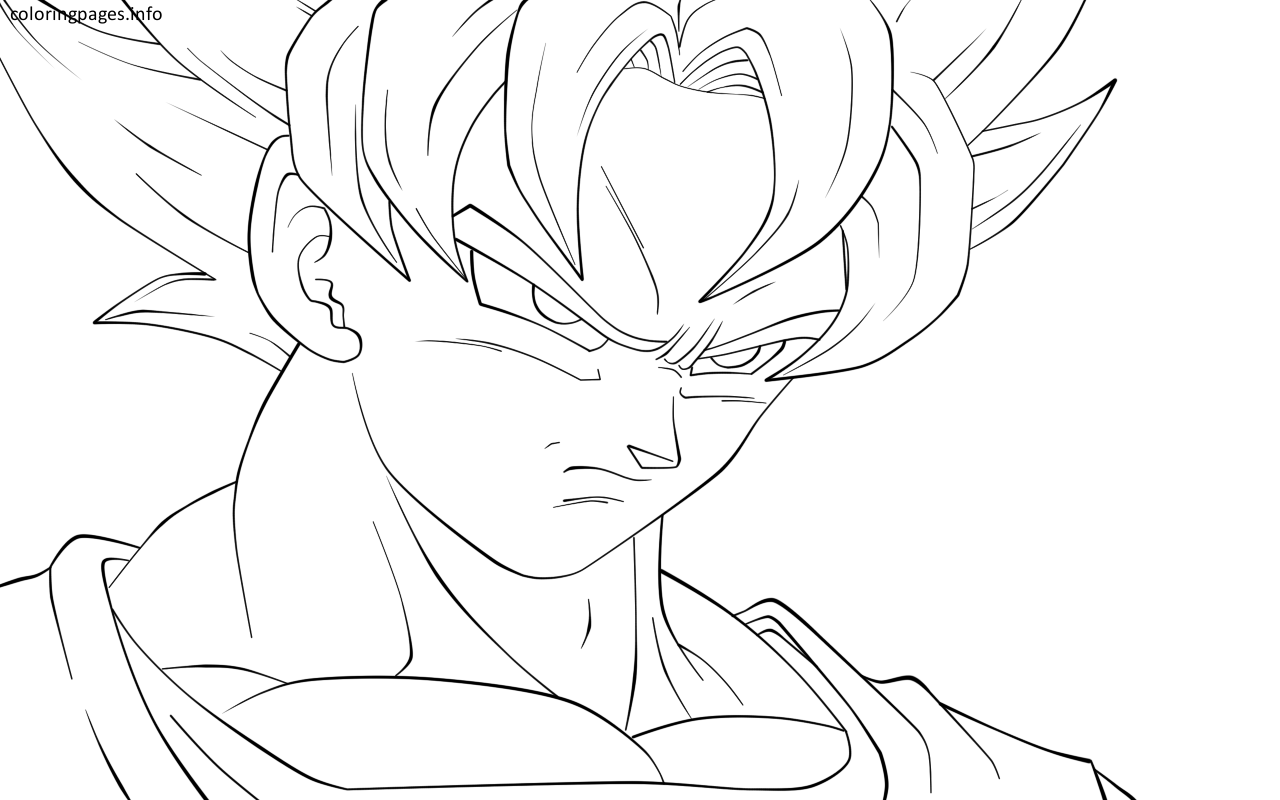 dbz goku coloring pages | Coloring Pages | Pinterest | Goku, Dbz and ...