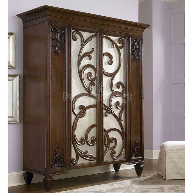 Jessica McClintock Dressing Armoire W/ Stool American Drew | Furniture Cart