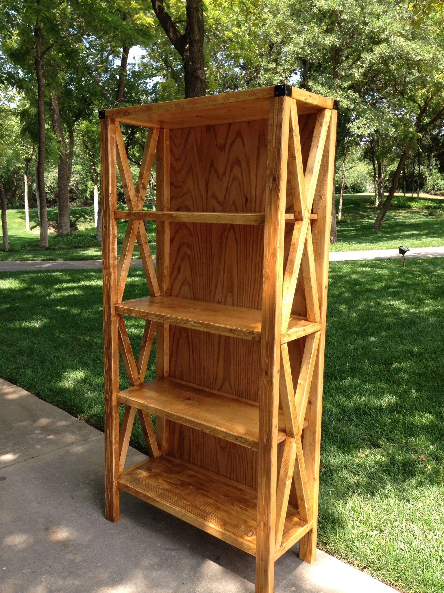 Elegant White Wood Bookshelf